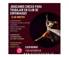 Club copenhagen buscamos strippers.