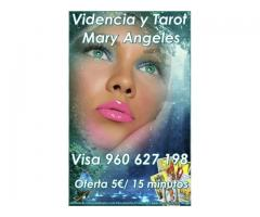 mary angeles tarot visa 960 627 198 desde 5.euro. 15 minutos
