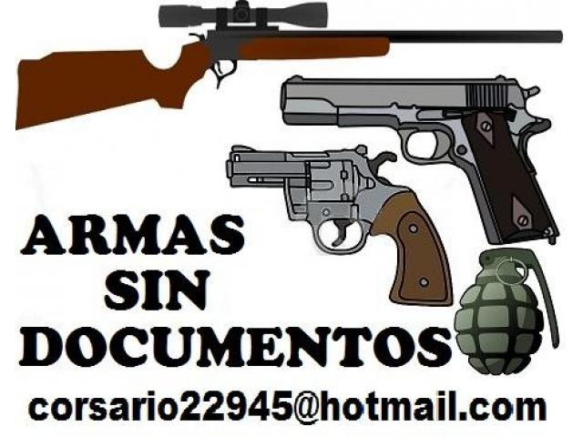 Armas cortas y largas sin documentos