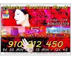 VIDENTE NATURAL TAROT VISA 9€ 35min. 910312450-806002109