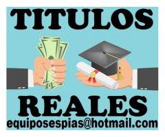 Titulos universitarios y tecnicos inmediatos