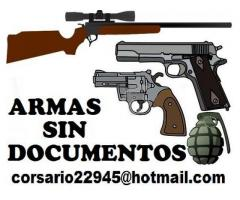 Vendo armas sin documentos